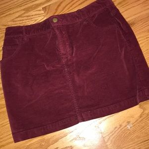 Burgandy Suede-like Skirt from Urban Outfitters